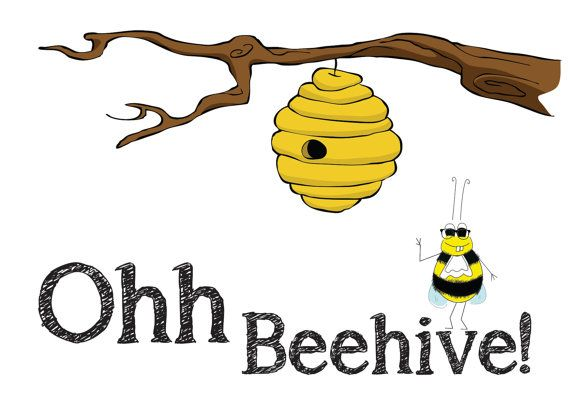 Ohh Beehive Baby  Austin Powers Inspired Bee by BuzzGreetings