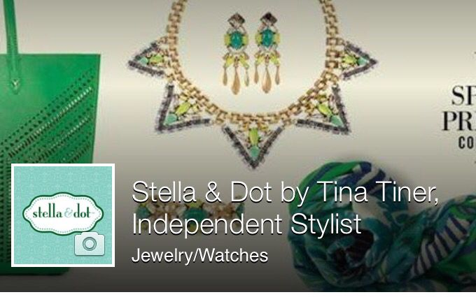 Come like my page to FB to keep up with latest Stella & Dot News and keep track of this season latest trends.  www.facebook/SDTTiner