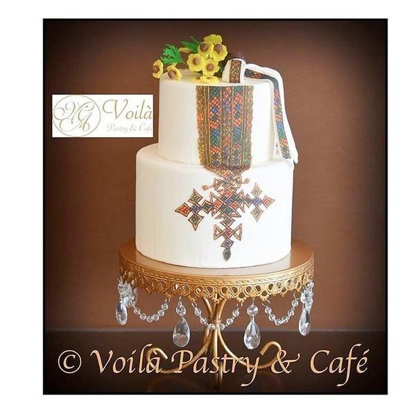 inspired Tilet wedding cake! perfect 4 #Eritrean & #Ethiopian weddings! Created by http://voilapastryandcafe.com
