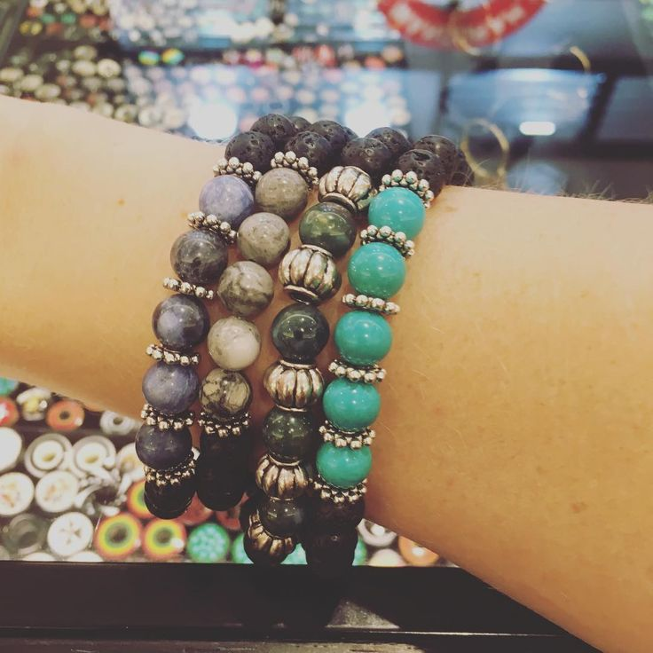 Loving our new gemstone lava rock bracelets  @angelbodyjewellery #lavarock #bracelet #jewelery #gemstone #aromatherapy #turquoise…