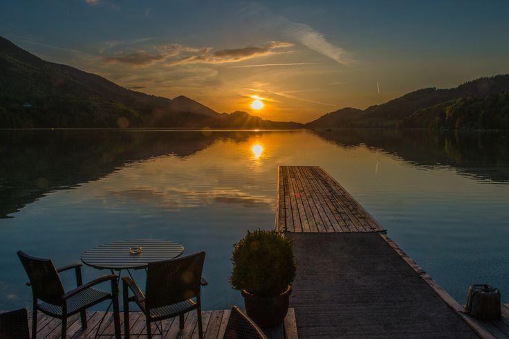 Sunset@Lake Fuschl - Evening at the Fuschl lake side