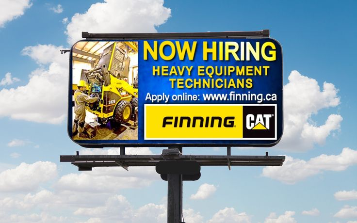 Finning ran Static Billboards as part of their large recruitment campaign to ensure that they reached out to a massive audience #recruitmentads #recruitmentstrategy #recruitment