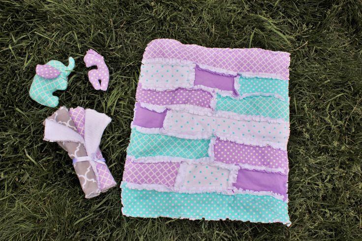 Lavender and Aqua Baby Gift Set! by BabyBazerk on Etsy