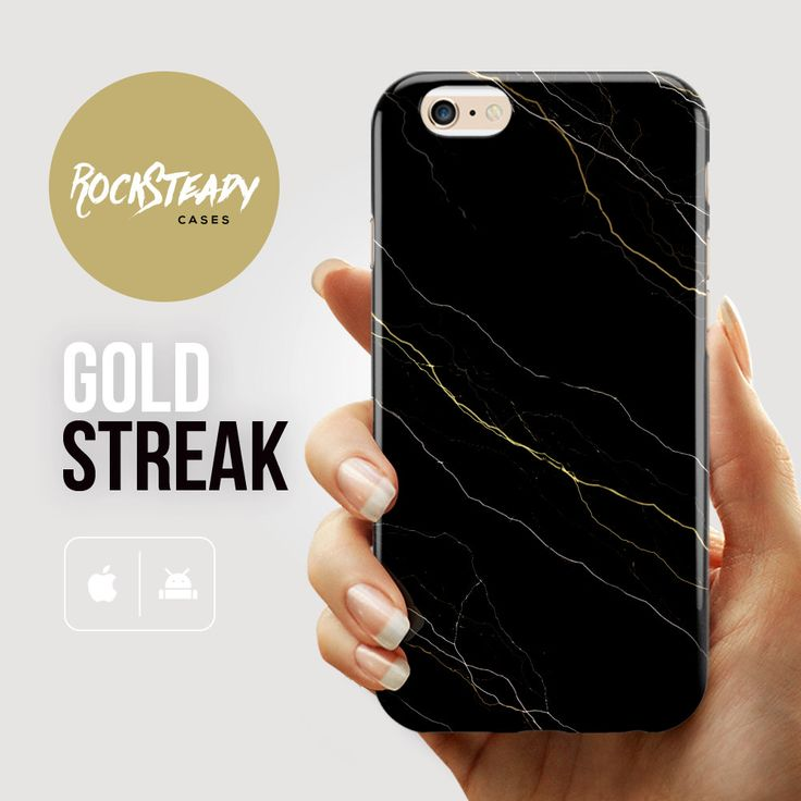 Black and gold iPhone 6 case, marble iPhone 6 case, marble iPhone 6 Plus case, iPhone 6 case, iPhone 5s Case, iPhone 5C case, Marble case by RockSteadyCases on Etsy