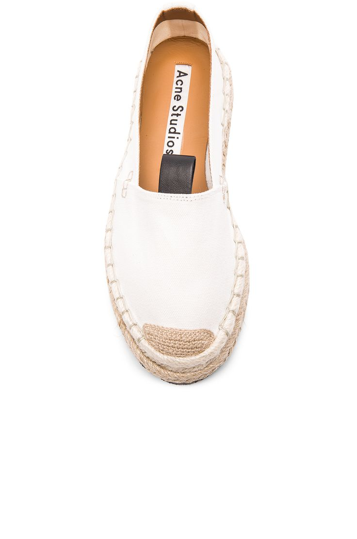 Acne Studios Canvas Bibiana Espadrilles in White