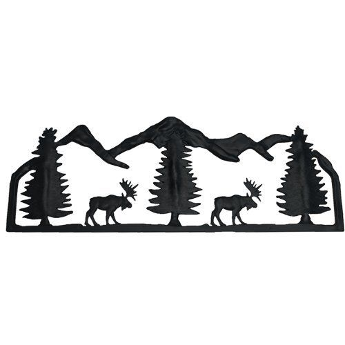 Mr. Chain The Lodge Collection Fencing Moose Midnight Black 24 Inch  Decorative Lawn Fencing