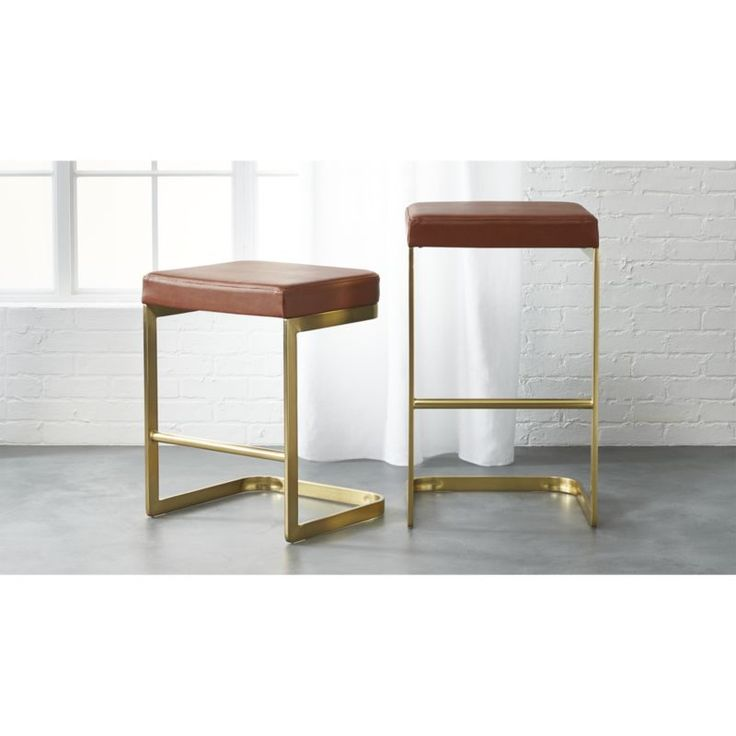 """<span class=""""copyHeader"""">box seat.</span> The Mack Leather Bar Stools were designed exclusively for…"""