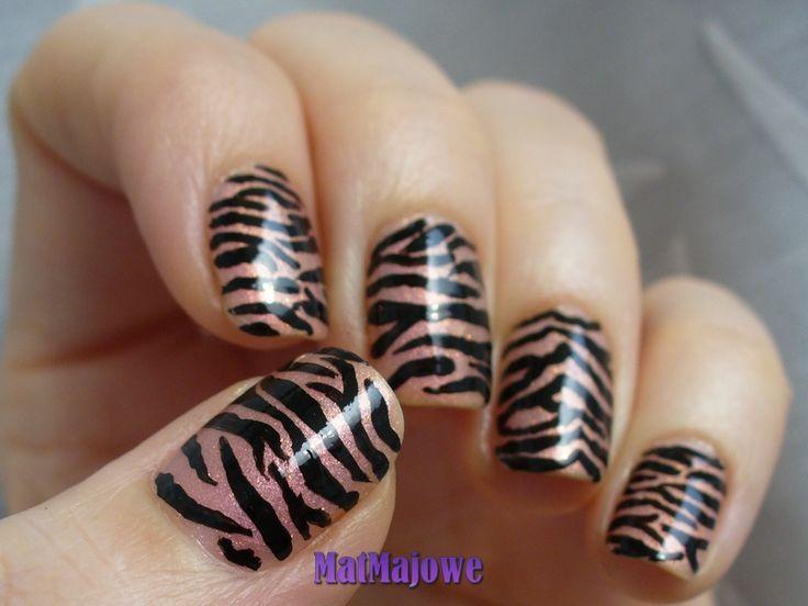 2. Mrrauu (Animal Print) Tiger's or zebra's stripes? http://matmajowe.blogspot.com/2015/02/projekt-nailart-2-zeberka.html