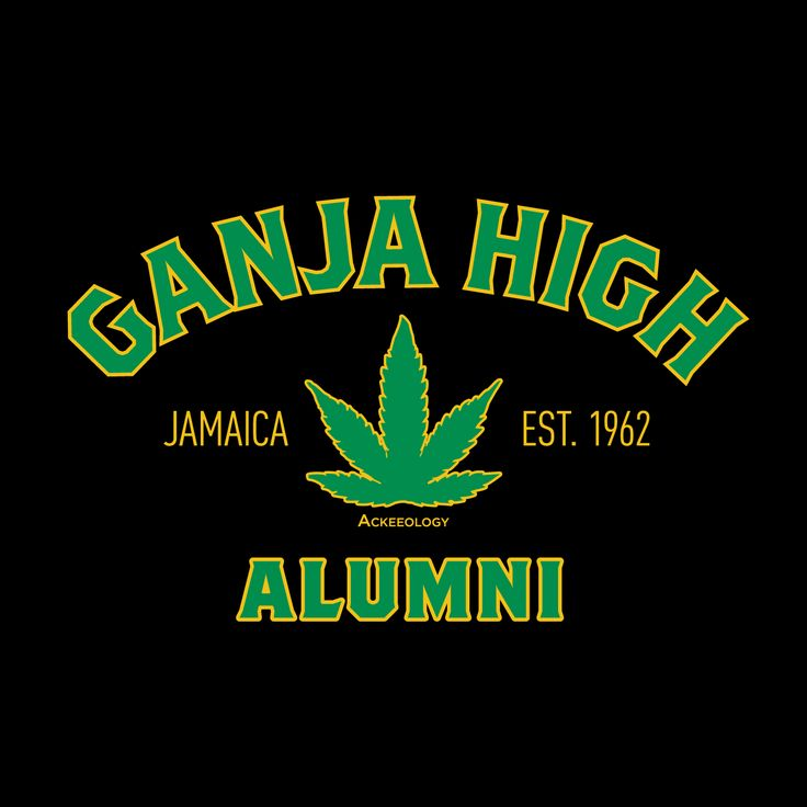 GANJA HIGH ALUMNI. You've graduated magna cum laude from Ganja High and still the perpetual student of this magical alma mater.   A classic-fitting basic t-shirt with feminine styling. Design is printed soft to the touch. Available in Black.  #Jamaican