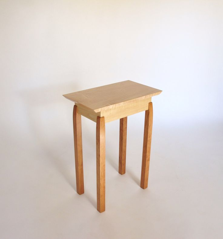 Narrow End Table: Tiger Maple U0026 Cherry Accent Table, Small End Table, Bed Awesome Ideas