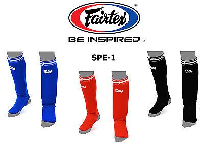 Shin Guards 179782: Shin Pads Fairtex Spe Elastic Competition Shin Guards For Muay Thai Kick Boxing -> BUY IT NOW ONLY: $30.99 on eBay!