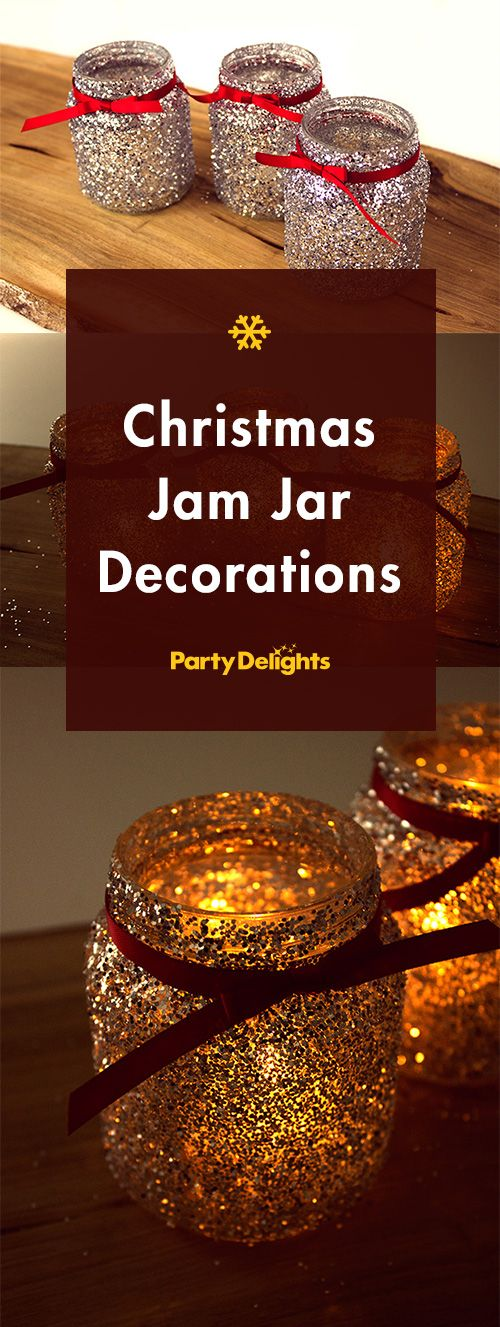 Learn how to make these festive jam jar decorations for Christmas - a cool yule jam jar craft!