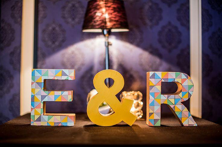 Letters voornamen bruidspaar, bruiloft, wooden letters, initialen