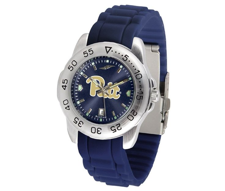 The Sport AnoChrome Pitt Panthers Watch is available in a Mens style. Showcases the Panthers logo. Color-coordinated silicone band. Free Shipping. Visit SportsFansPlus.com for Details.