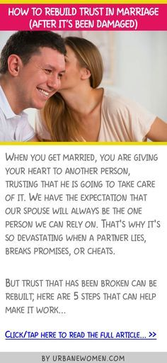 How to rebuild trust in a marriage (after it's been damaged)