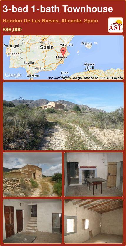 3-bed 1-bath Townhouse in Hondon De Las Nieves, Alicante, Spain ►€98,000 #PropertyForSaleInSpain