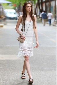 Sleeveless Vest Lace Skirt  Priced US$ 19.9 free ship