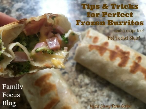 For crispy, perfectly reheated burritos just the way you want them, try these tips and tricks for homemade frozen burritos. And a Hot-Pocket style recipe!