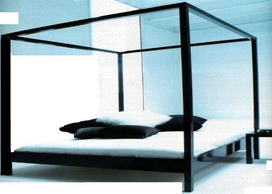 The Cube design hemelbed 200cm in zwart