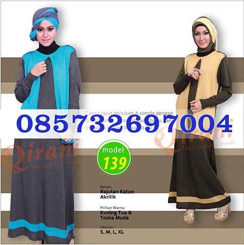 Gamis Qirani Model 139 Hubungi  085732697004 PIN BB D10F64D6