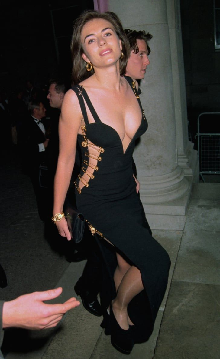 The Untold Fashion Story Of Elizabeth Hurley S Iconic Versace Safety Pin Dress In 2020 Celebrity Style Inspiration Fashion Cool Summer Outfits