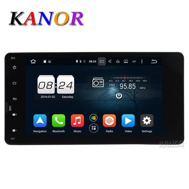 "KANOR Octa Core Android 6.0 2G Car Video Player For Mitsubishi Outlander 2013 2014 With GPS Headunit 7"" 1024*600 Bluetooth"