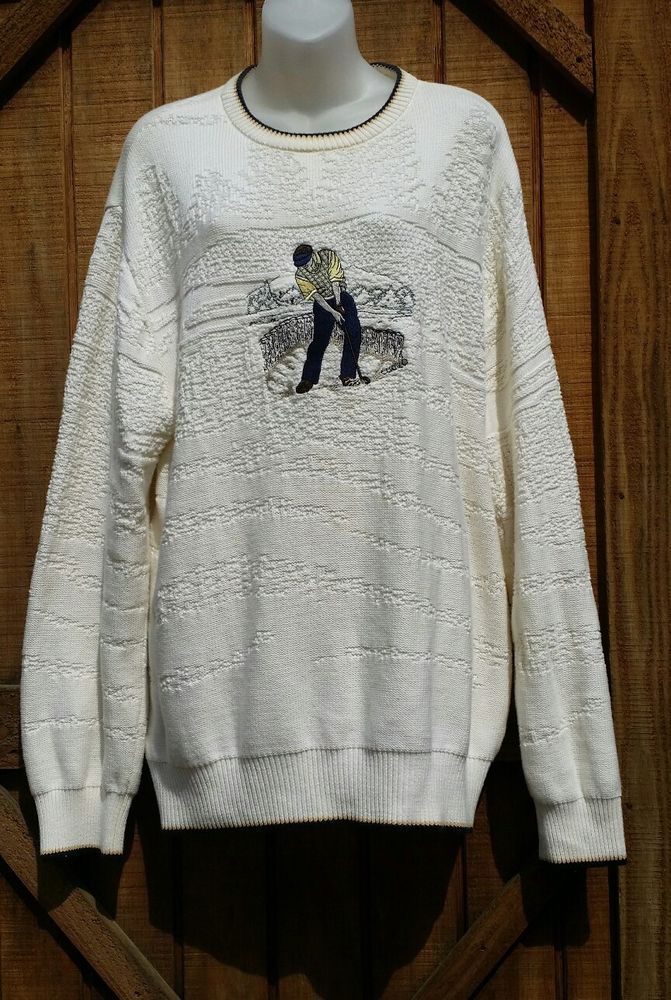 Cypress Links Golf Wear Mens Sweater Embroidered Golfer Tan & Cream Size 48 | Clothing, Shoes & Accessories, Men's Clothing, Sweaters | eBay!