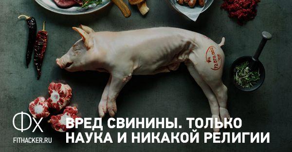 Пожалуй, самая исчерпывающая статья о вреде употребления свинины.