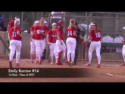 CA High School Softball. 1st Base Fly Ball Catch: Great Oak vs La Serna....