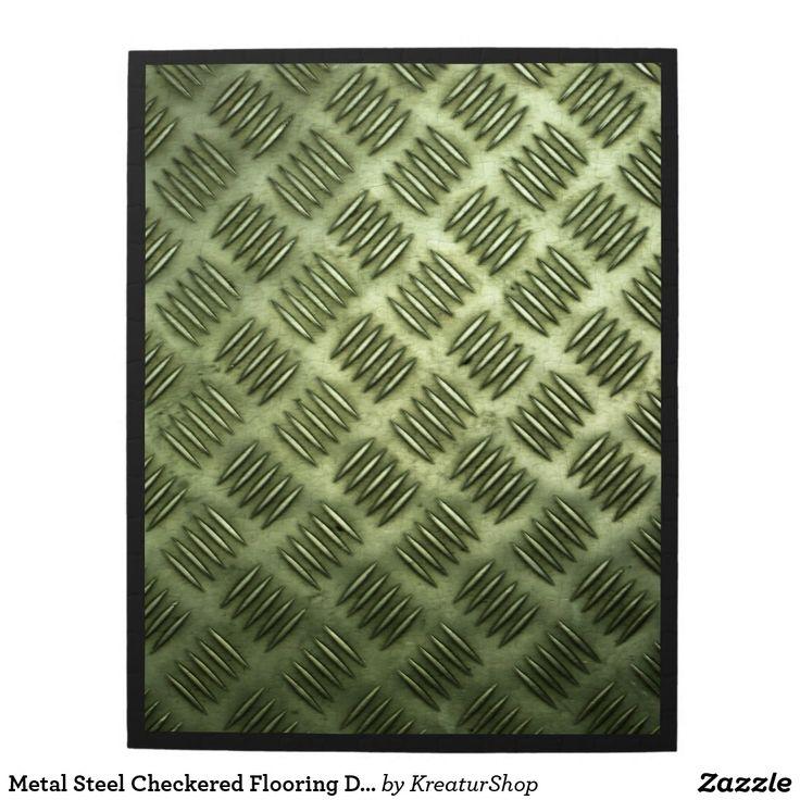 Metal Steel Checkered Flooring Diagonal Texture