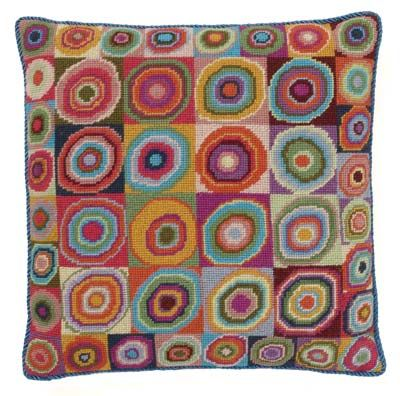 Needlepoint Pillow using   Kaffe Fassett design and wool!  In the que line.