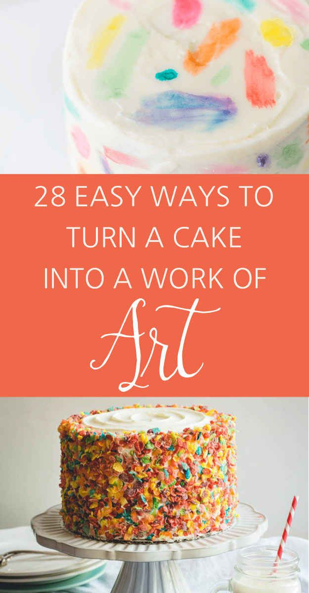 28 Deceptively Easy Ways To Turn A Cake Into A Work Of Art  - I *ALWAYS* have time for pretty cake decorations X