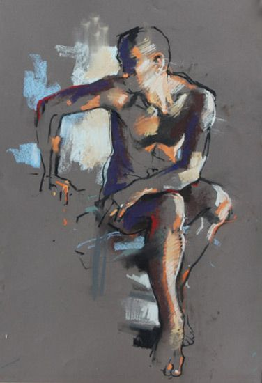 Crawfurd Adamson I charcoal & pastel