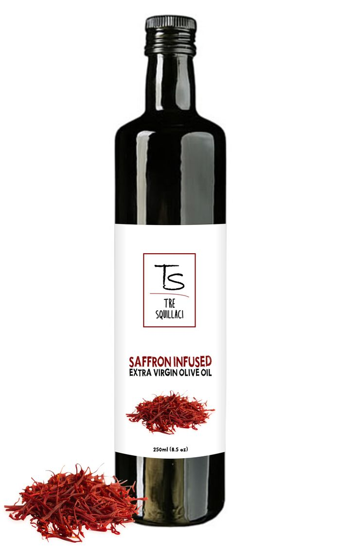 Gourmet Saffron Infused Olive Oil Naturally Flavored in Italy 8.5 Fl Oz