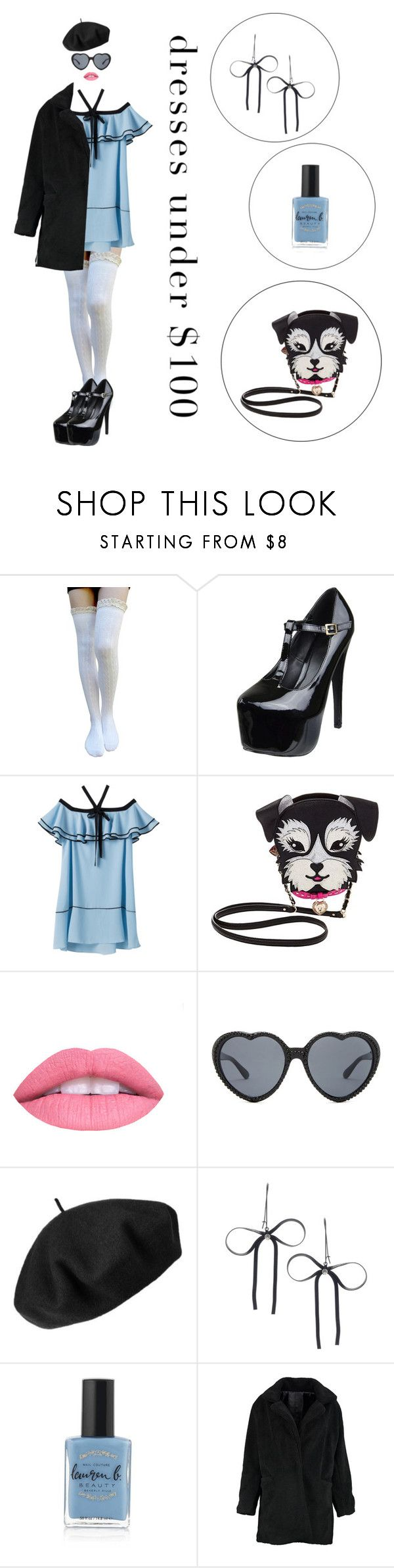 """""""Beauty on a Budget"""" by blacksoul-blackclothes ❤ liked on Polyvore featuring Betsey Johnson, L.A. Girl, Betmar, Lauren B. Beauty and Boohoo"""