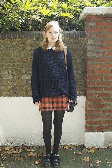 Gap Shirt, Topman Jumper, United Colors Of Benetton Skirt, Dr. Martens Shoes