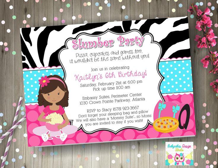 The 25+ best Slumber party invitations ideas on Pinterest - movie themed invitation template