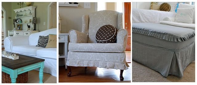Slipcovers by Pink and Polka Dot by The Slipcover Girl, via Flickr
