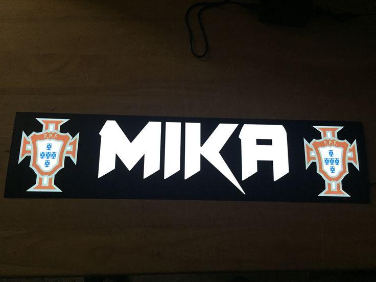 Plaque prénom routier Mika