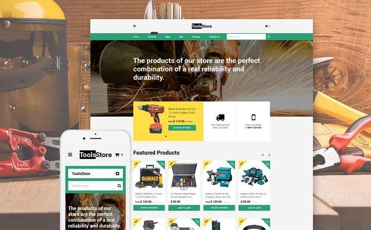 The Best Home Repair, Contractor & DIY Store Themes for Shopify - ToolsStore (Shopify ecommerce theme) Item Picture