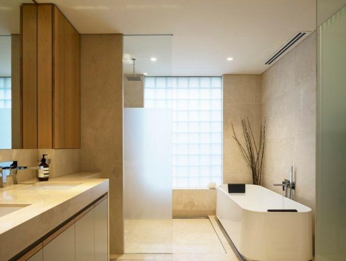 Les 25 meilleures idées de la catégorie Salle de bain travertin ...