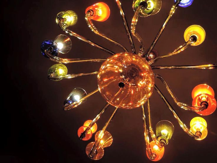 Blob chandelier  Take a dive into luxury murano glass blowing.  Purho made in Italy - Collection by Karim Rashid.