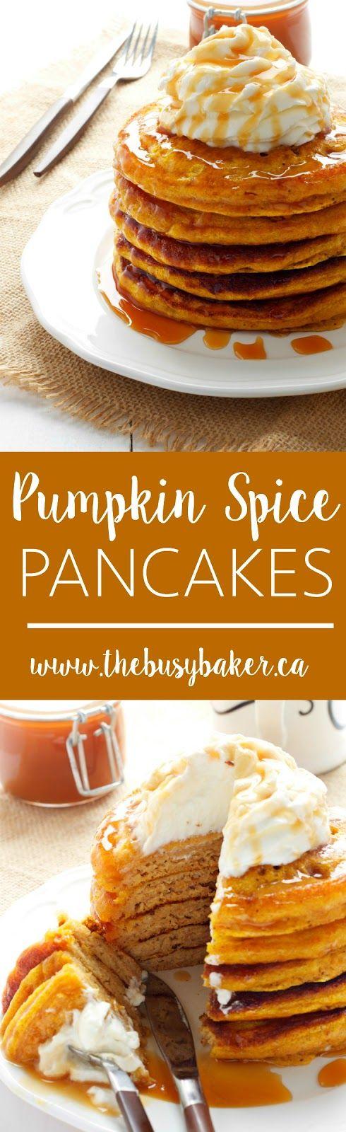 Pumpkin Spice Pancakes www.thebusybaker.ca
