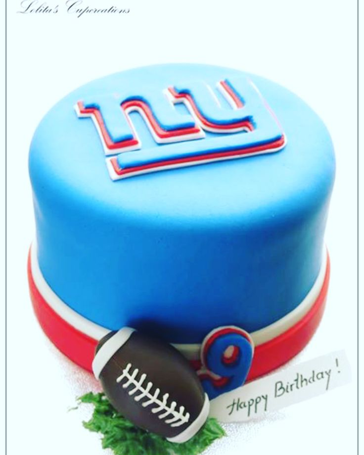 Lolita's Cupcreations (NY Giants inspired birthday cake)