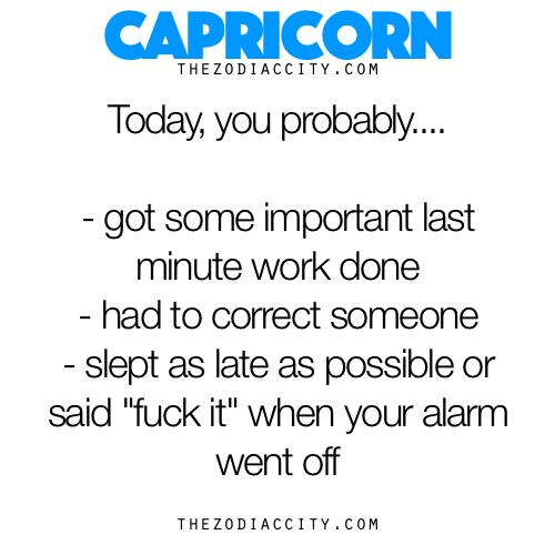 Capricorn, Today You Probably…. - TheZodiacCity - Get Familiar ...