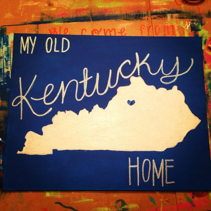 Kentucky Canvas - for Rachel
