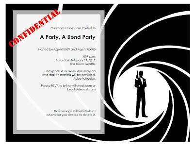 Bond invitation 28 images bond theme wedding invitation bnai lovedog ranch bond bond bond invitations graphics and what to wear stopboris Choice Image