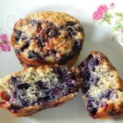 Photo de recette : Muffins aux bleuets, à l'avoine et aux graines de chia