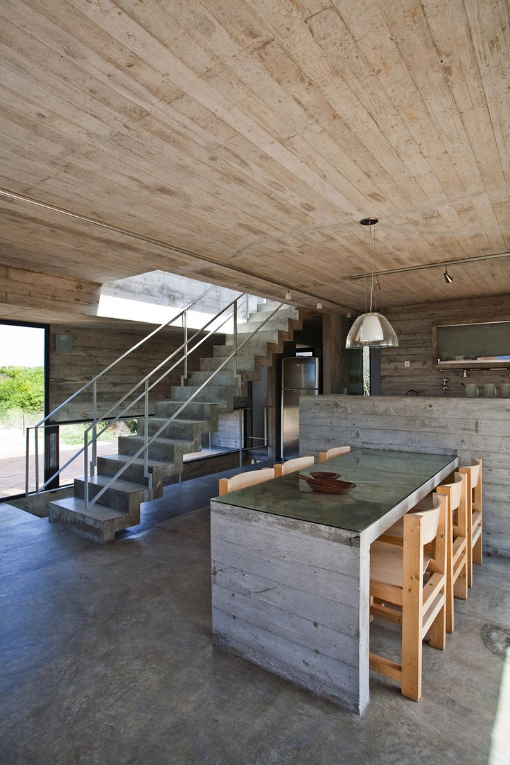 Industrial elements Concrete House With Industrial Features on the Beach by BAK Architects