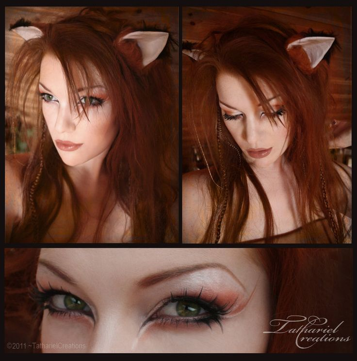This lady is like Viking-Elf Barbie! <3 Fox - Makeup by TatharielCreations on Deviantart.